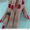 Vermelho perfeito esmaltação perfeita! Amo o q faço!