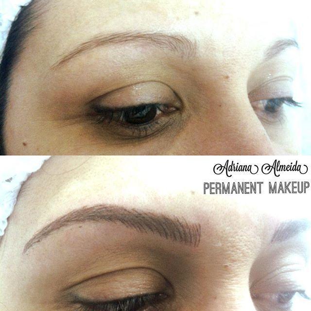 Micropigmentação técnica Shadow line estética micropigmentador(a) maquiador(a) designer de sobrancelhas