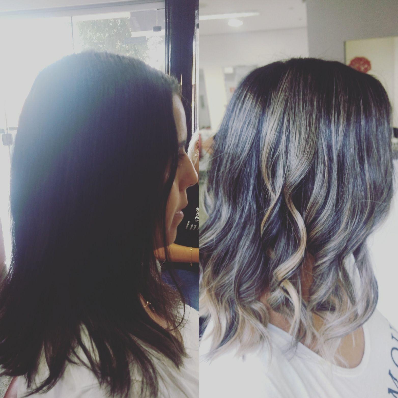 Ombre Hair cabelo cabeleireiro(a) dermopigmentador(a) designer de sobrancelhas maquiador(a) cabeleireiro(a)