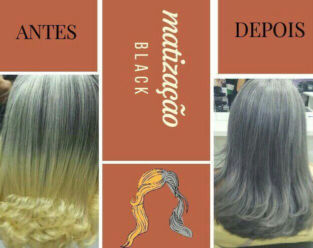 Matização cabelo estudante (cabeleireiro) designer de sobrancelhas