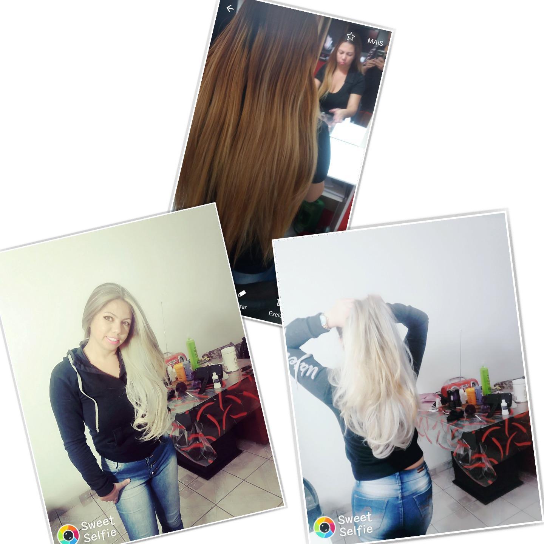 Antes e depois ombre Hair com mechas custuras no topo ...  cabelo cabeleireiro(a)
