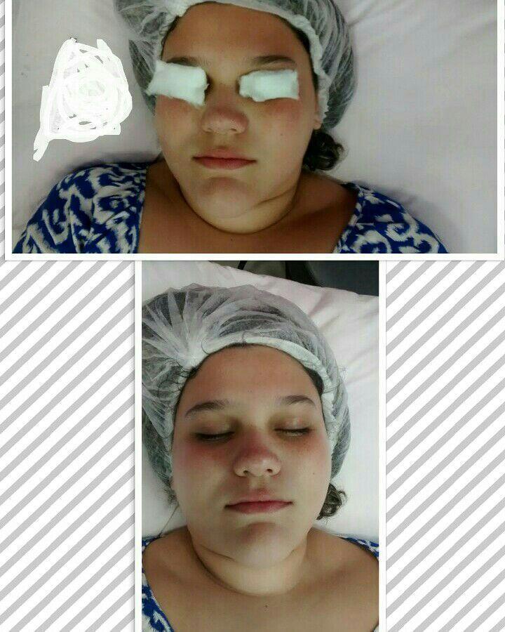 Limpeza de pele estética esteticista designer de sobrancelhas depilador(a) maquiador(a)