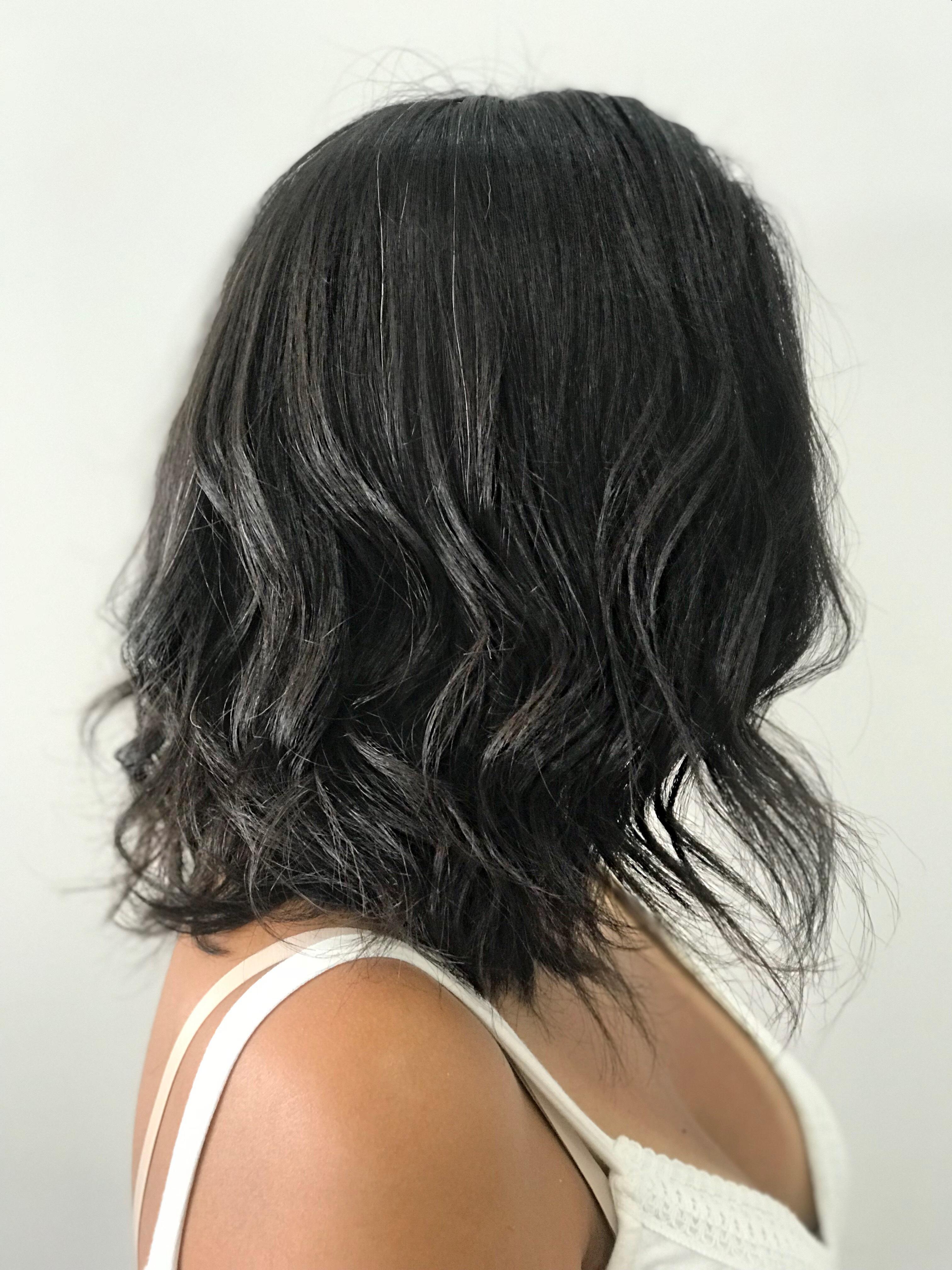 Corte long bob e escova modelada  cabelo cabeleireiro(a) maquiador(a)