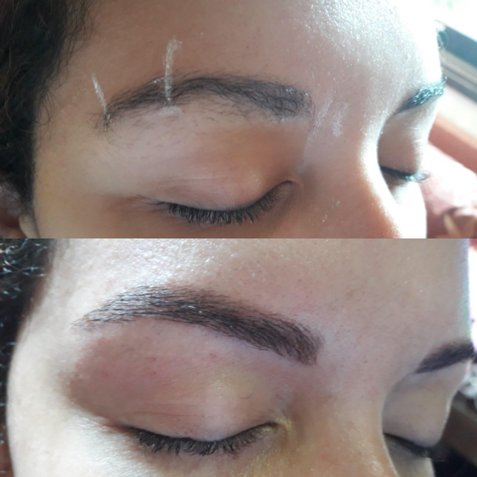 Aprendendo aplicação de henna estética designer de sobrancelhas recepcionista