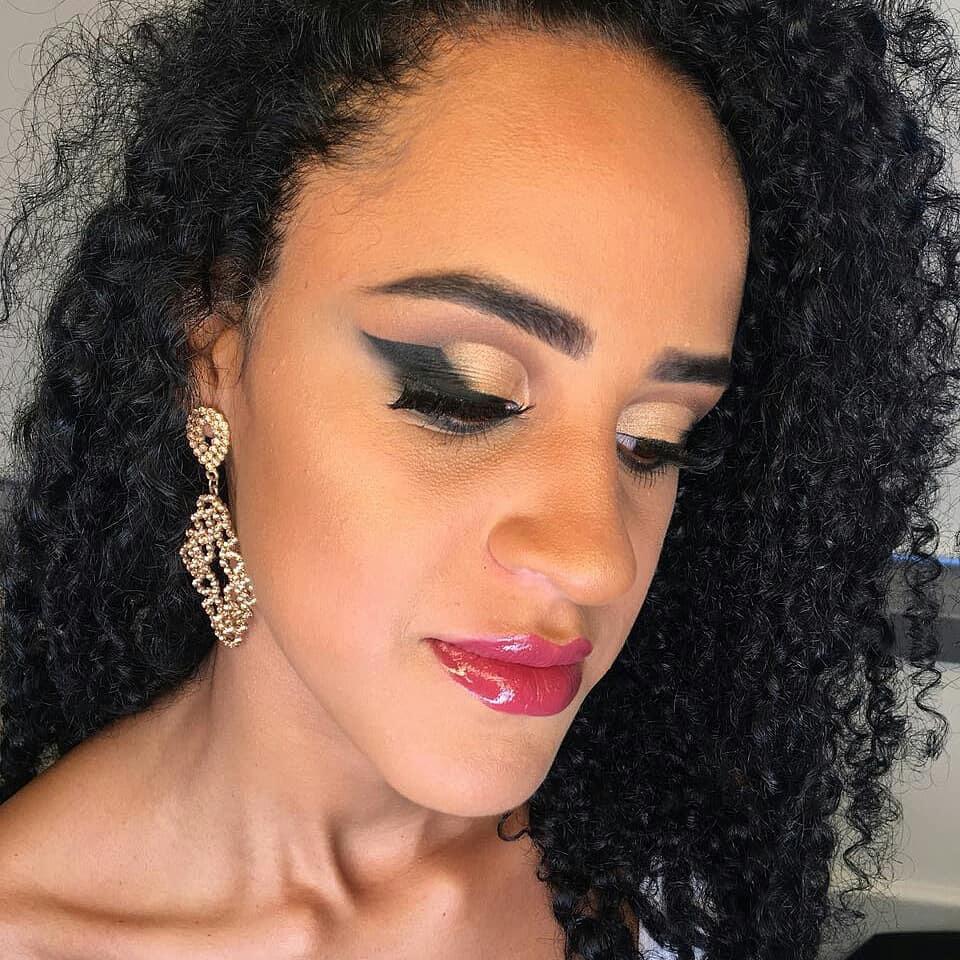 Delineado asa de anjo  maquiagem maquiador(a)