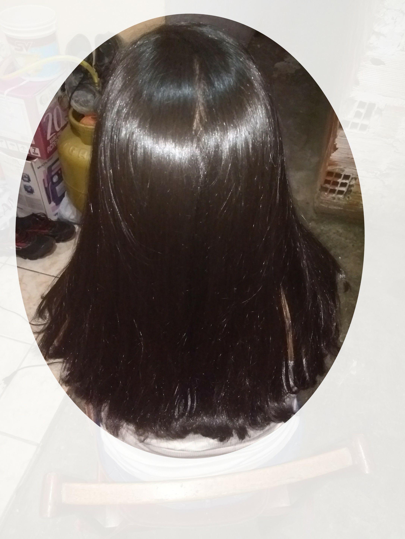 Cabelo após o procedimento do botox capilar  Botox Maria Escandalosa cabelo maquiador(a) auxiliar cabeleireiro(a) recepcionista
