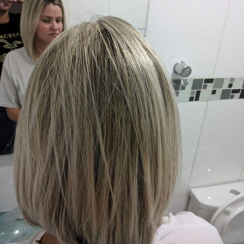 Cabelo após o botox capilar.  Botox Maria Escandalosa + Matizador cabelo maquiador(a) auxiliar cabeleireiro(a) recepcionista