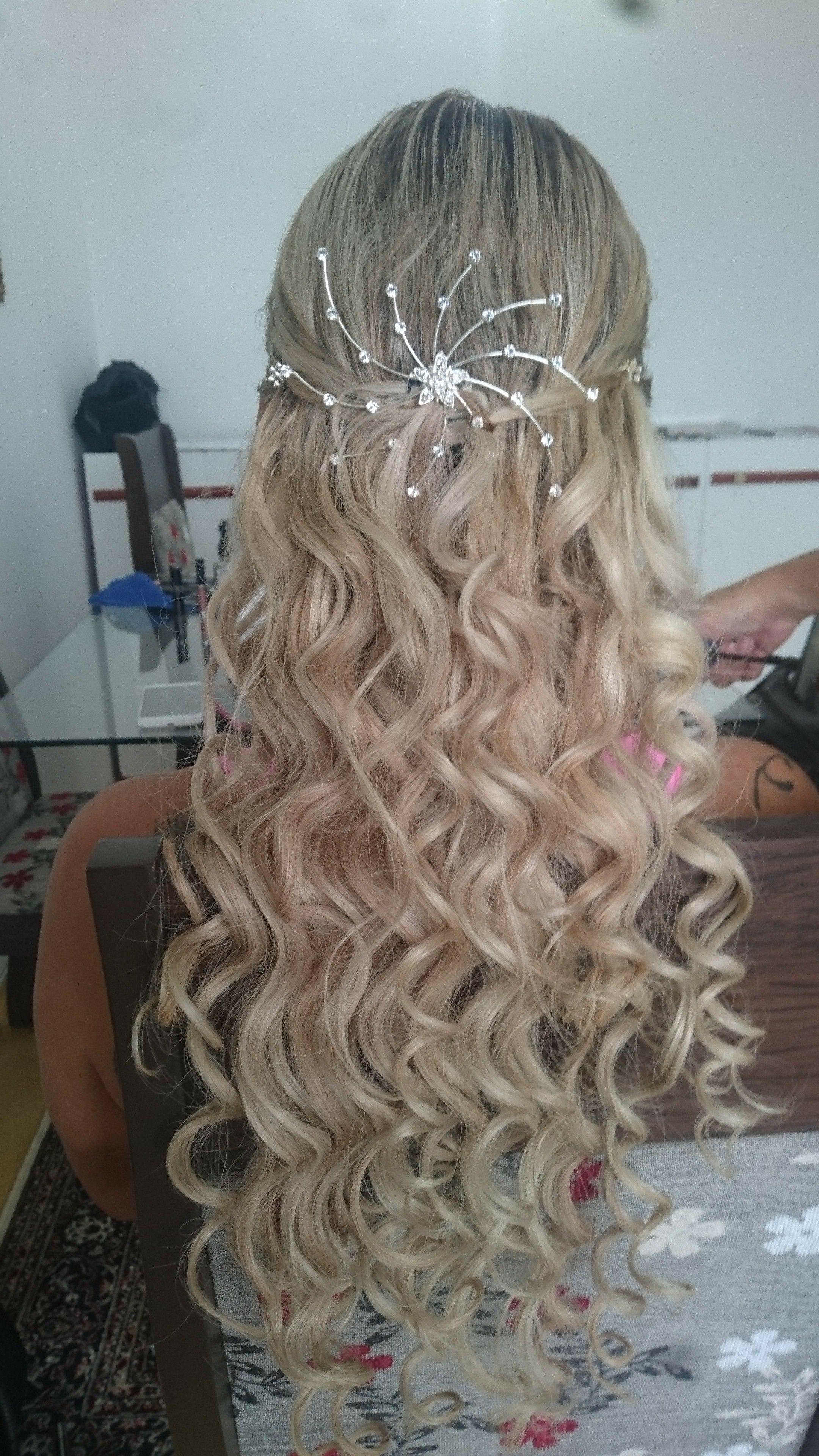 Penteado semi preso modelado com babyliss cabelo cabeleireiro(a)