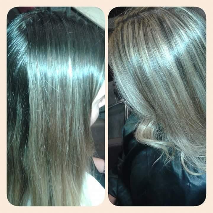 Trabalho de cor  cabelo cabeleireiro(a) maquiador(a) stylist