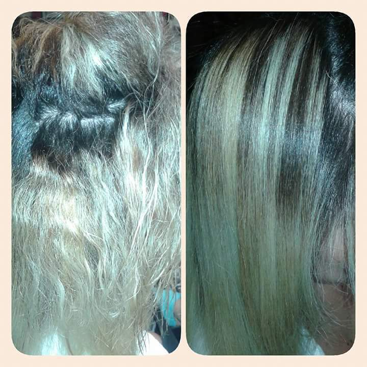Trabalho de texturização em cabelo clareado cabelo cabeleireiro(a) maquiador(a) stylist
