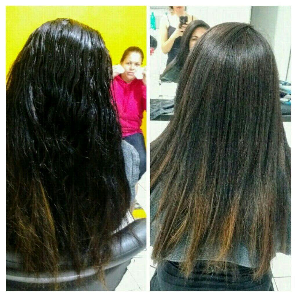 Progressiva cabelo estudante (cabeleireiro)