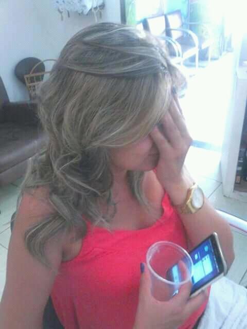Depois ❤ luzes no papel .  cabelo auxiliar cabeleireiro(a) designer de sobrancelhas recepcionista