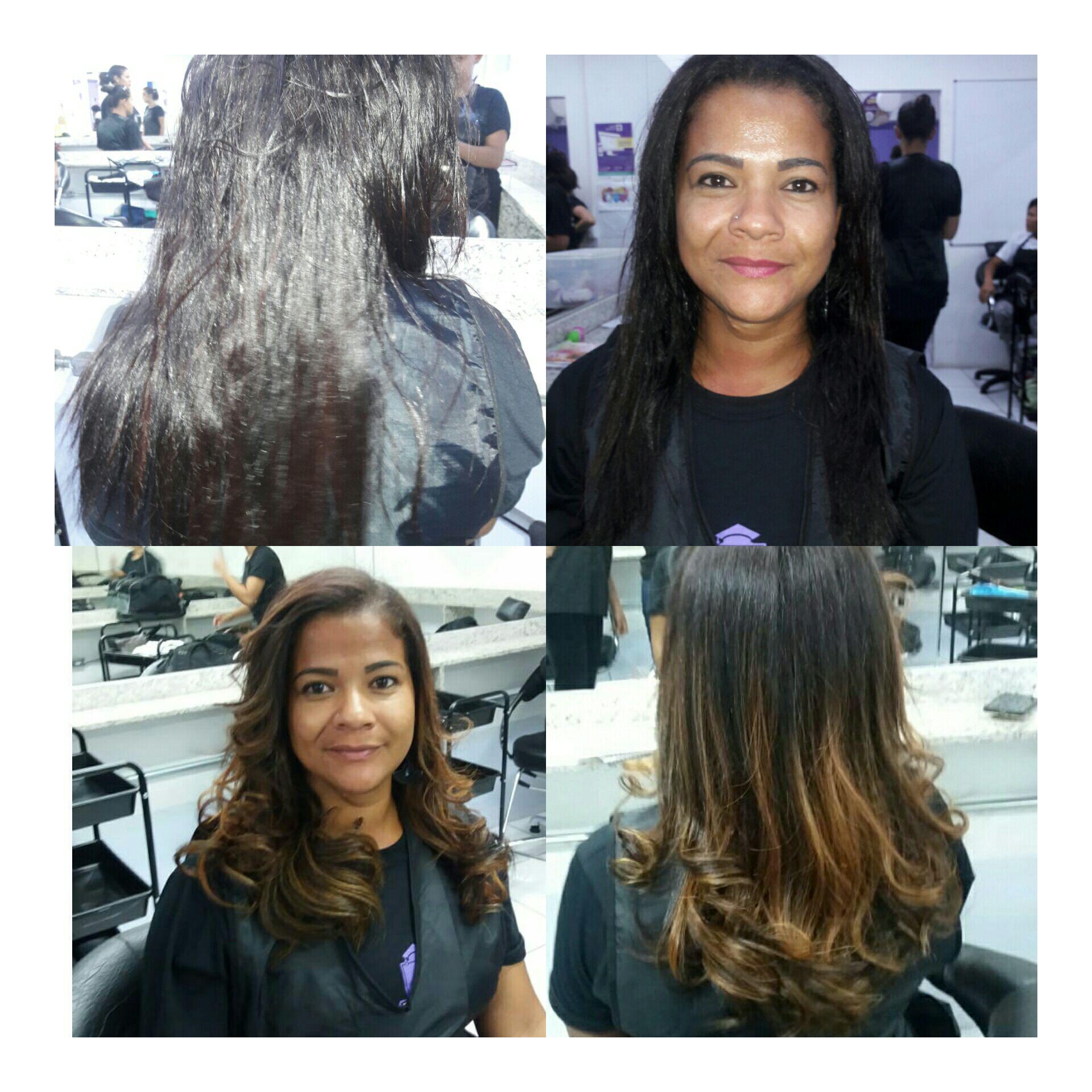 Ombre hair mel 😍😍💇❤ cabelo auxiliar cabeleireiro(a)