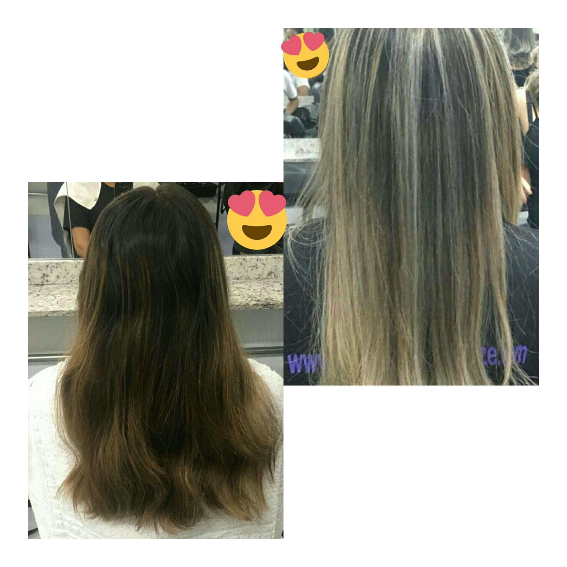 Mechas pérolas ❤💇 cabelo auxiliar cabeleireiro(a)