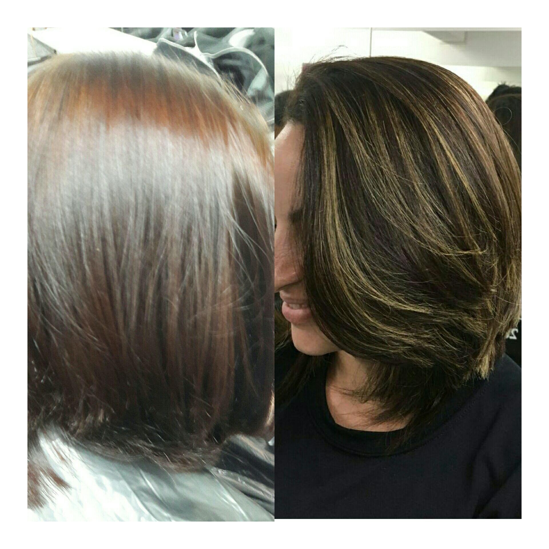 Ombre Hair e Corte Chanel ❤💇 cabelo auxiliar cabeleireiro(a)