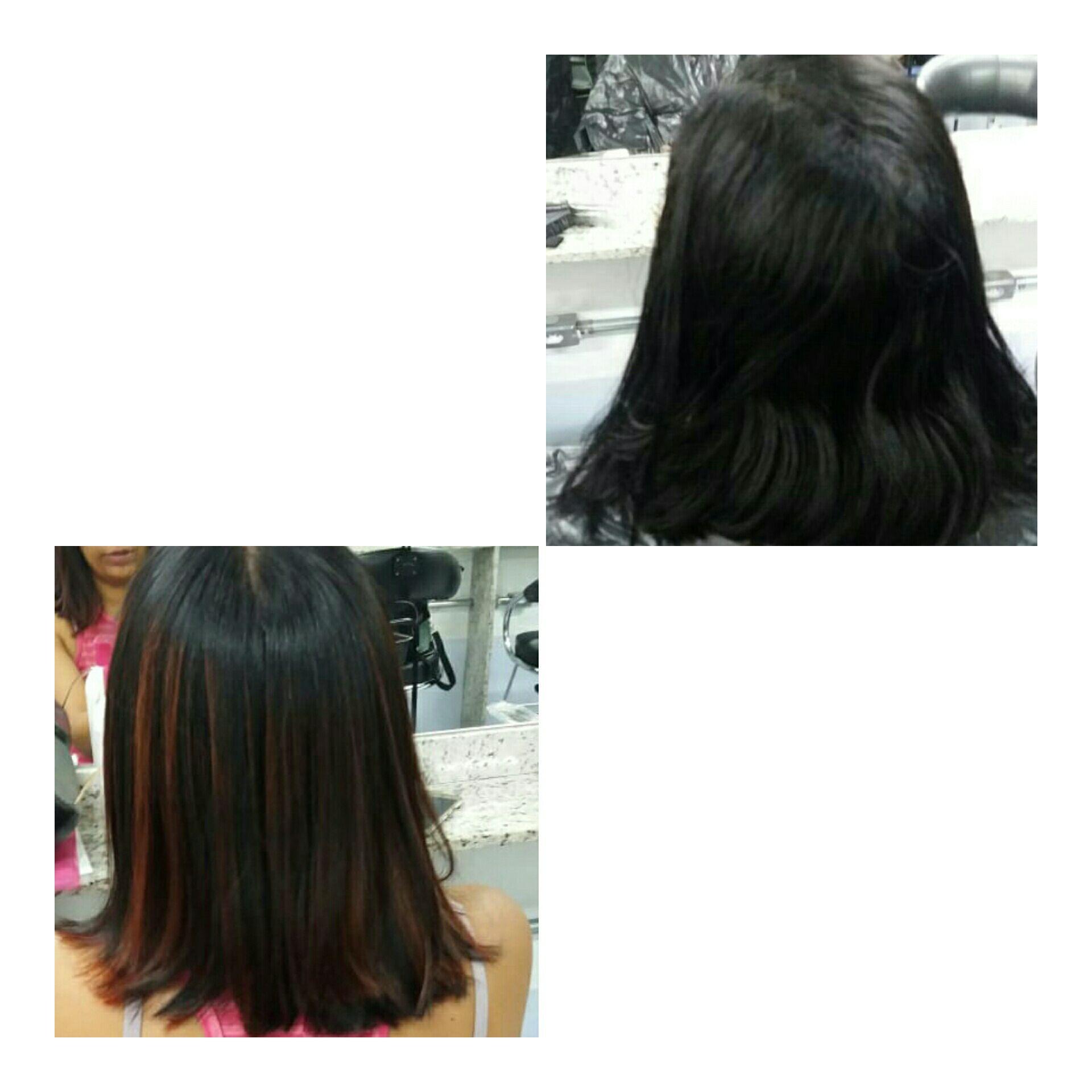luzes vermelho ❤ cabelo auxiliar cabeleireiro(a)