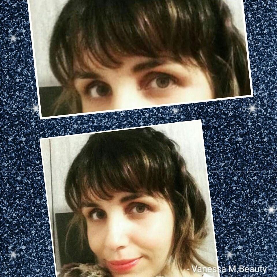 Corte de franja cabelo auxiliar cabeleireiro(a) designer de sobrancelhas