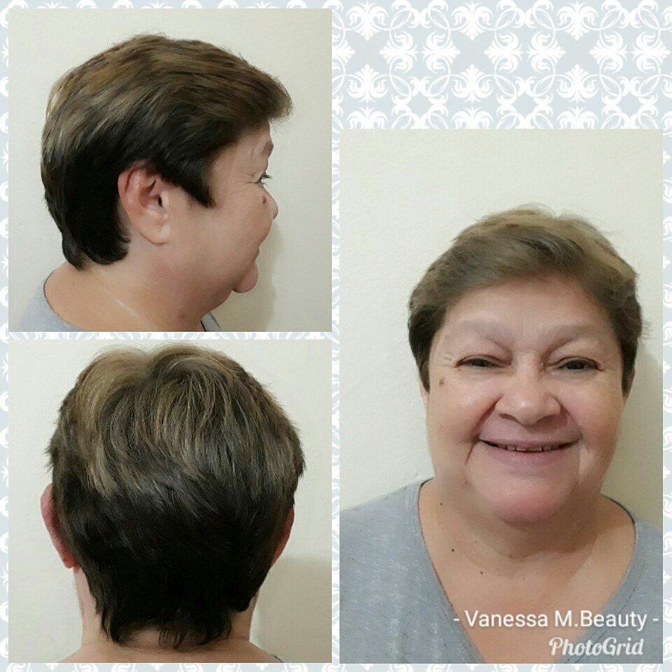 Mechas cabelo Pixie cabelo auxiliar cabeleireiro(a) designer de sobrancelhas