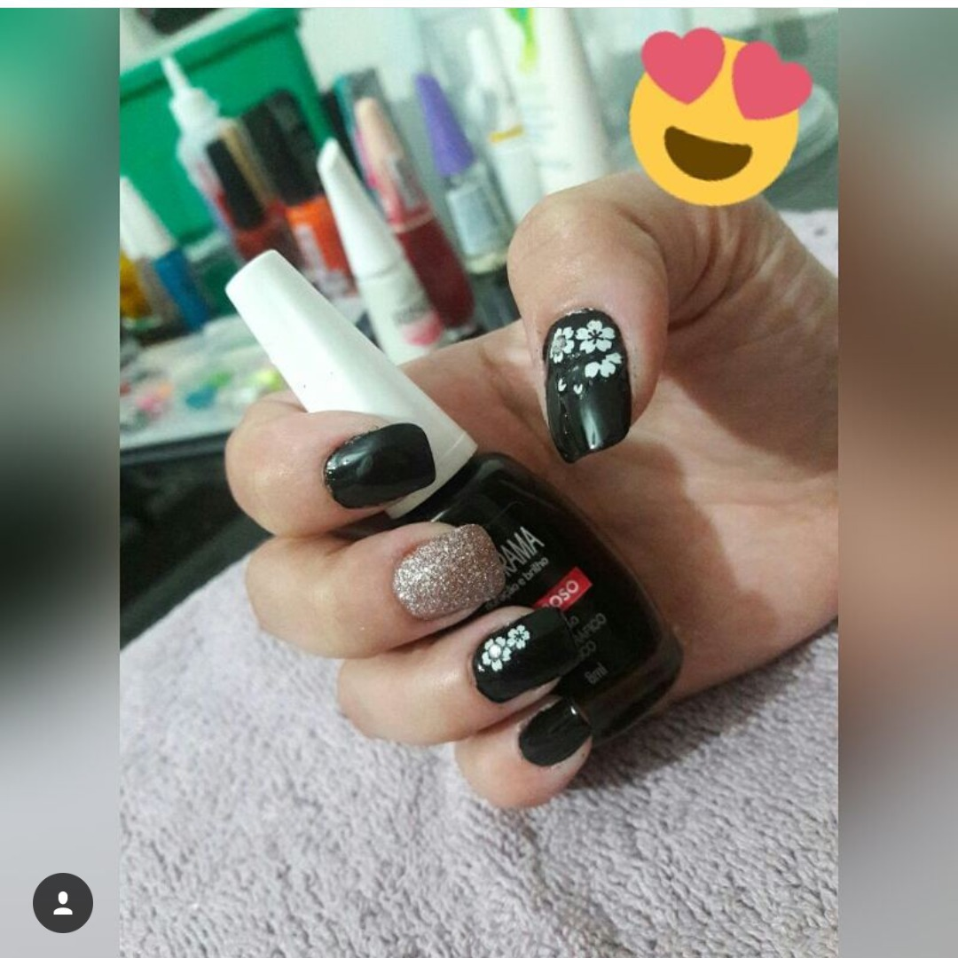 #unhapreta#decorada#love#nails unha manicure e pedicure maquiador(a) auxiliar cabeleireiro(a)