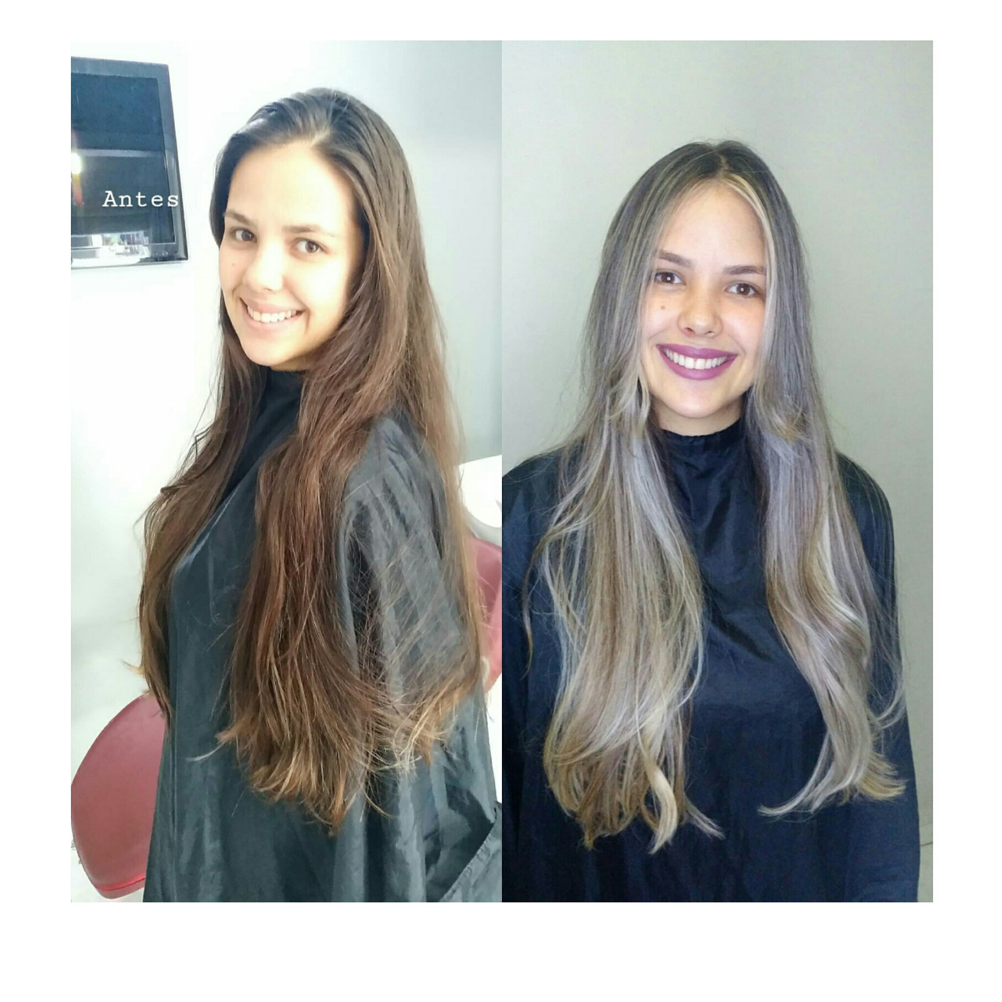Light Contour pérola,  raiz esfumada,  frente bem marcada.   Produtos utilizados: Olenka cosméticos  cabelo cabeleireiro(a) maquiador(a)