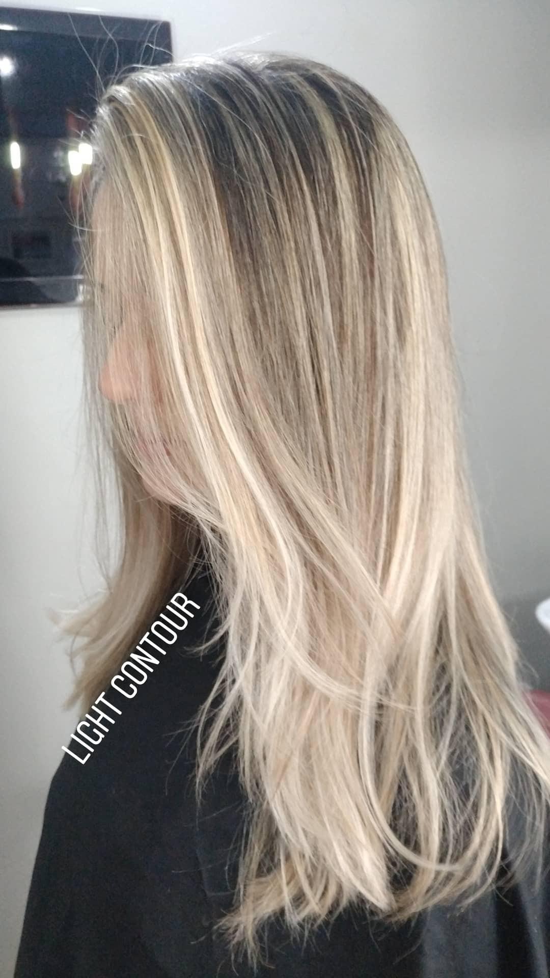 Light contour cabelo cabeleireiro(a) maquiador(a)