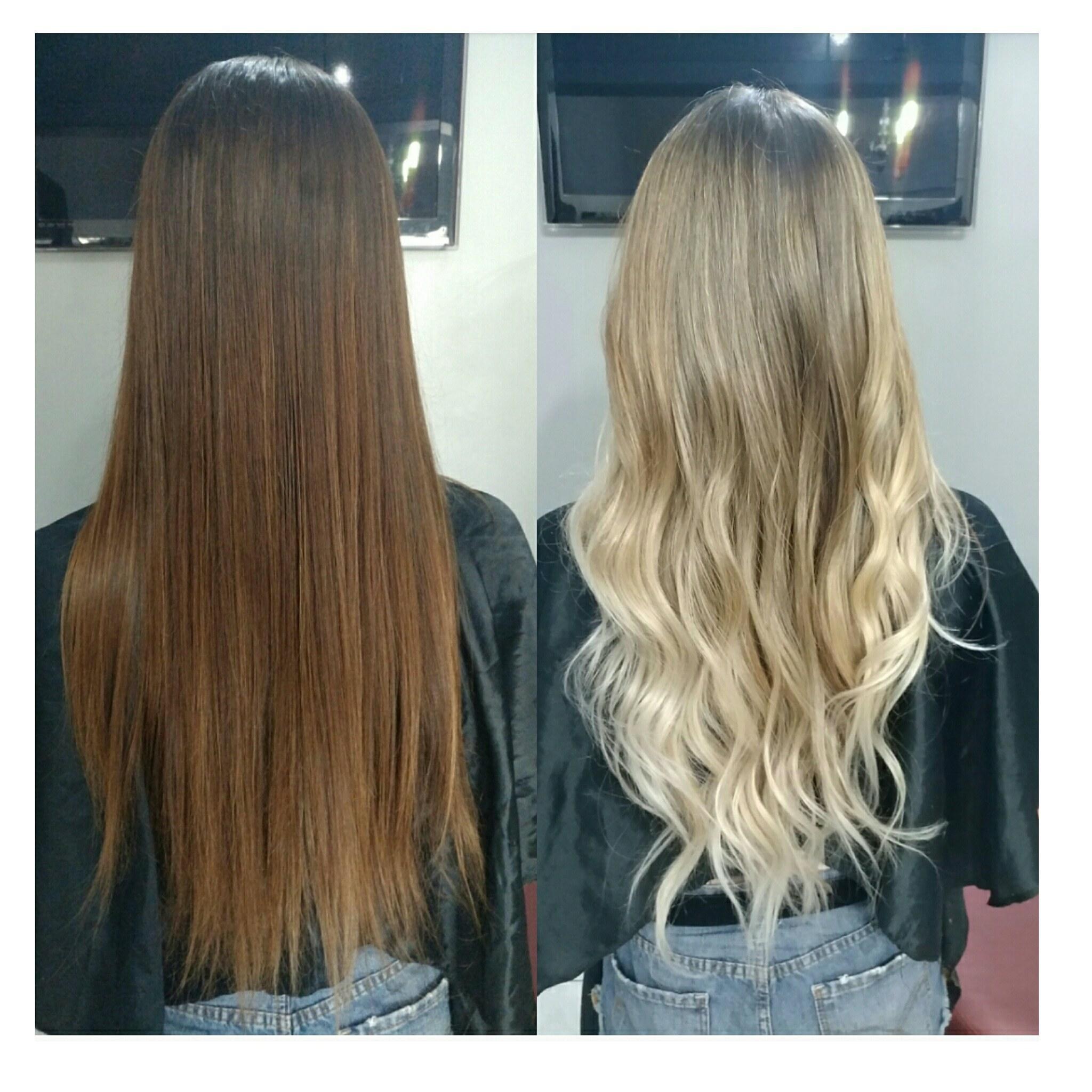 Ombré hair  cabelo cabeleireiro(a) maquiador(a)