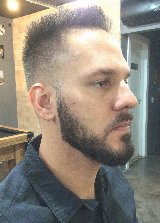 Fade + barba cabelo barbeiro(a)