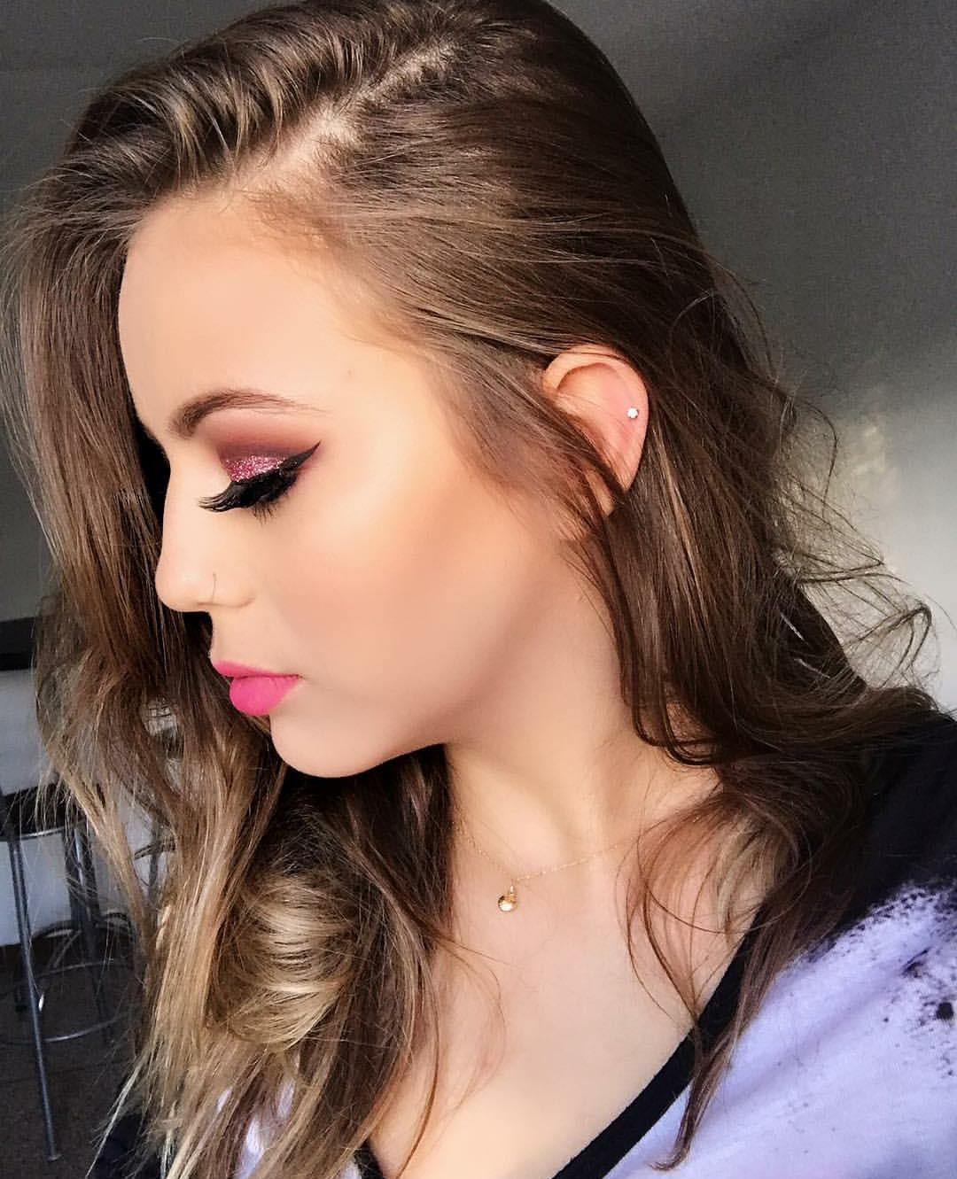Cut Crease com Glitter maquiagem maquiador(a) consultor(a) designer de sobrancelhas
