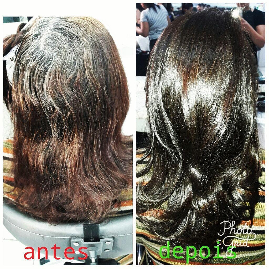 Coloração + escova cabelo cabeleireiro(a) depilador(a) maquiador(a) designer de sobrancelhas outros