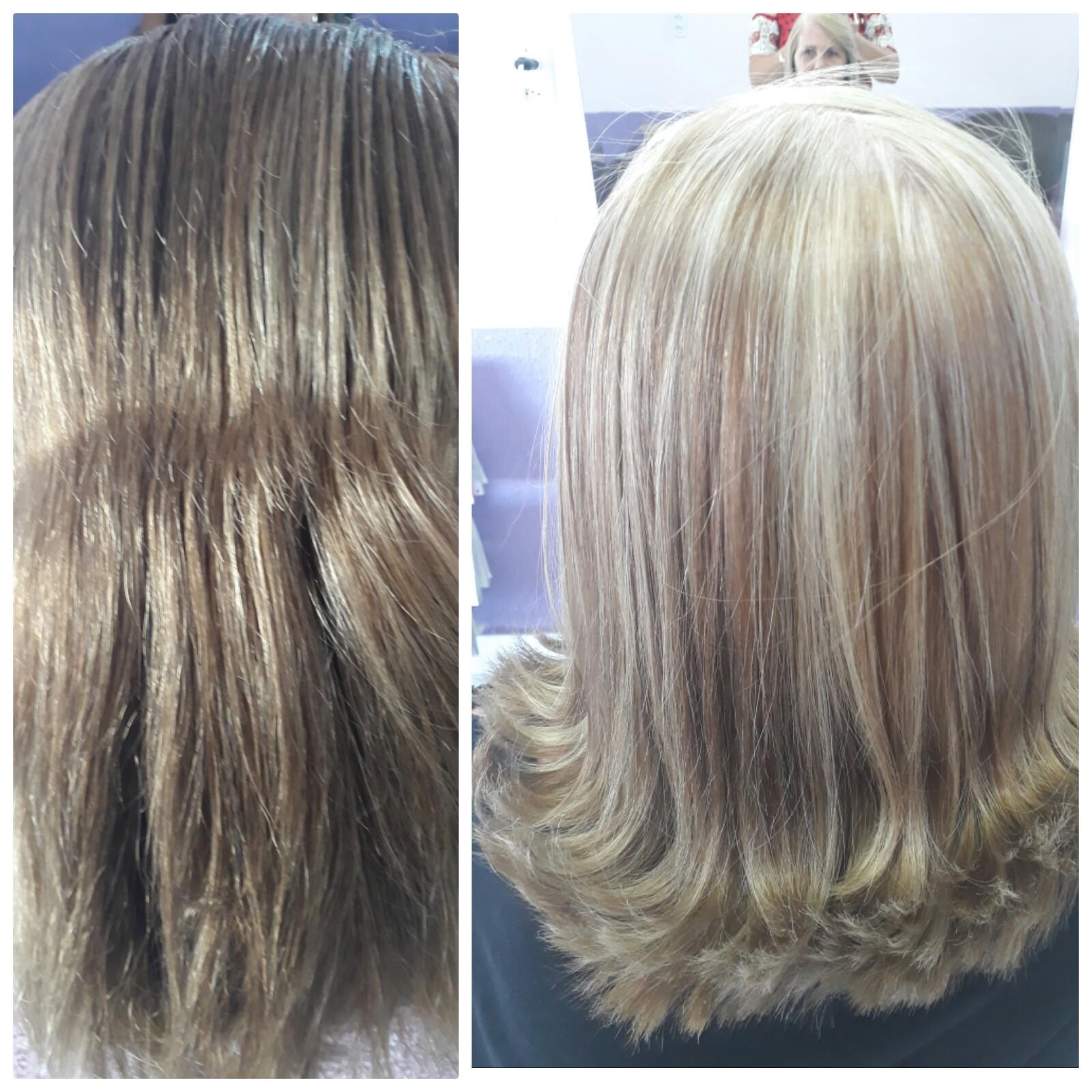 Mechas  cabelo cabeleireiro(a) depilador(a) designer de sobrancelhas