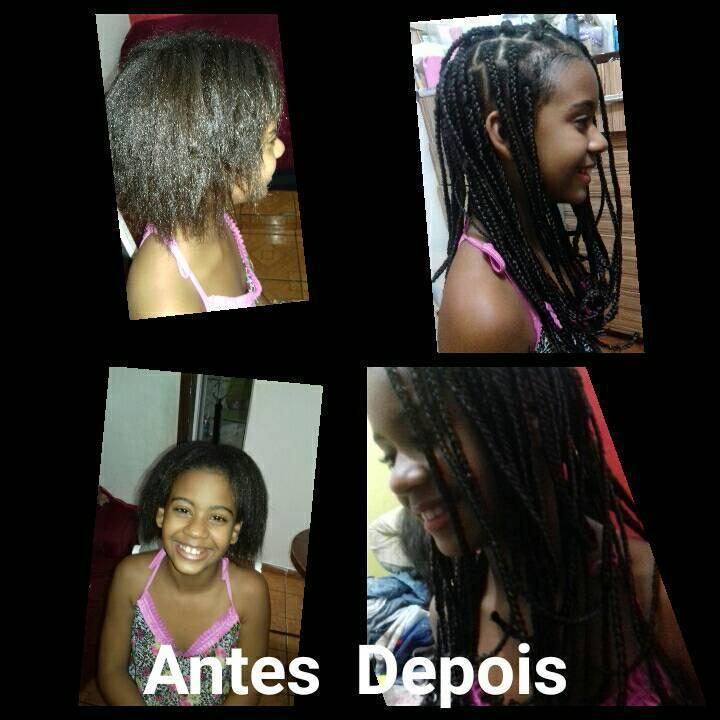 Arrisquei e ...  #1vez #ElaAmou  #BoxBraids #Infantil  cabelo cabeleireiro(a)