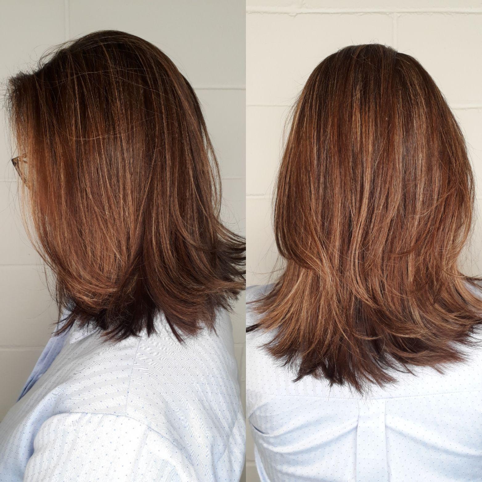 Mechas tons sobre tons ... cabelo cabeleireiro(a) maquiador(a) designer de sobrancelhas