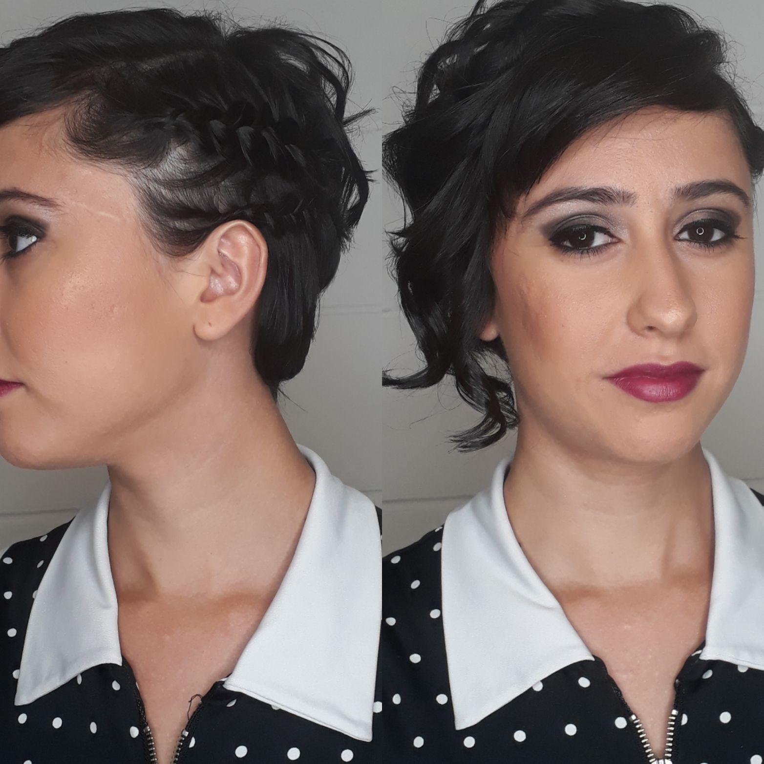 Básico,  delicado e romântico... escova  modelada e transa lateral... cabelo cabeleireiro(a) maquiador(a) designer de sobrancelhas