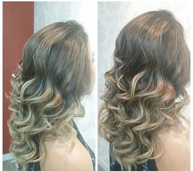 Escova anelada sem uso de baby liss ou prancha  somente na escova  cabelo auxiliar cabeleireiro(a)