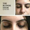 Antes e depois do Design de Sobrancelhas (Cliente atendida no salão The Blonde Door).