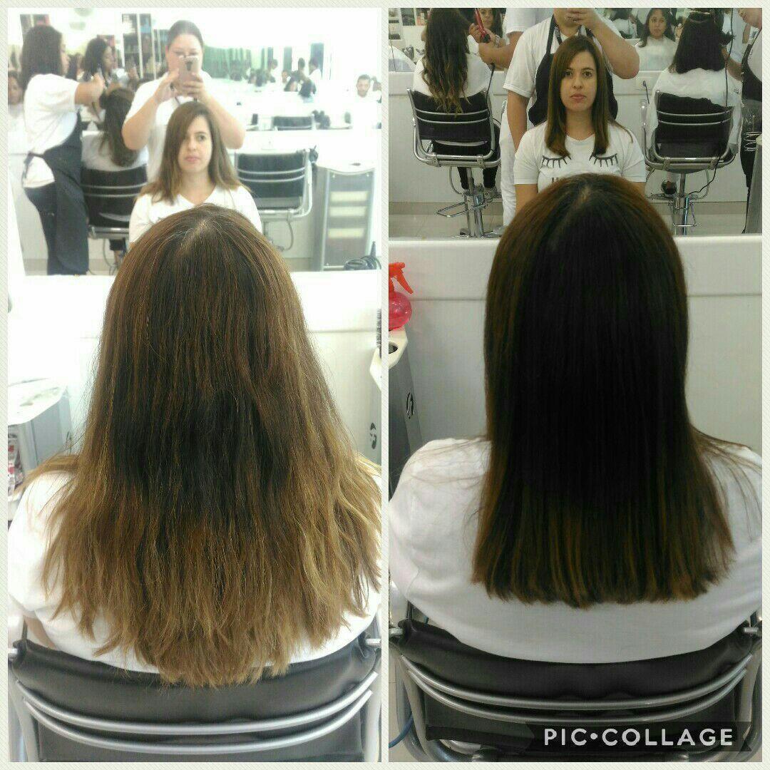 Hidratação e Corte cabelo maquiador(a) micropigmentador(a) designer de sobrancelhas cabeleireiro(a)