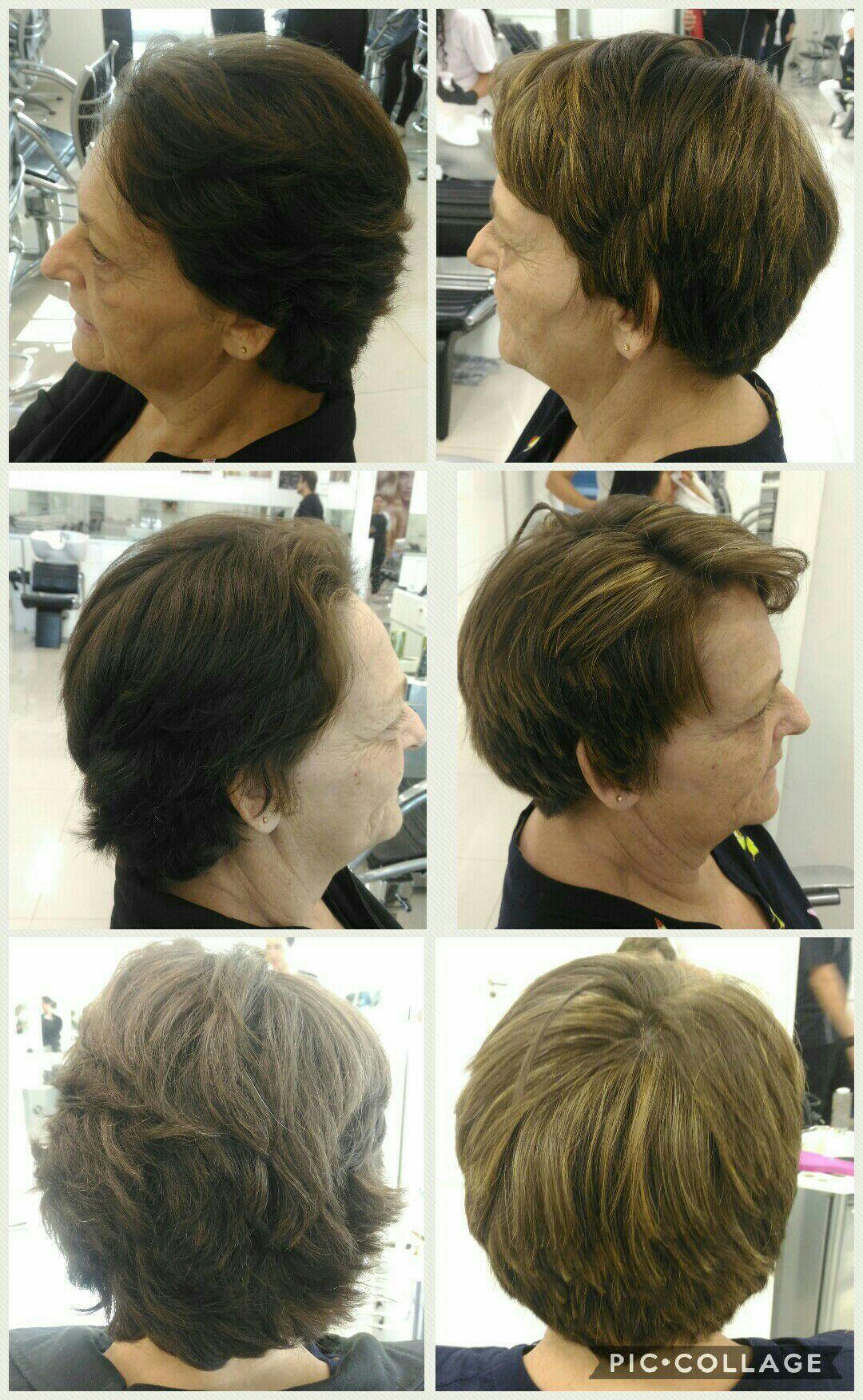 Mechas com super clareadora e corte cabelo maquiador(a) micropigmentador(a) designer de sobrancelhas cabeleireiro(a)