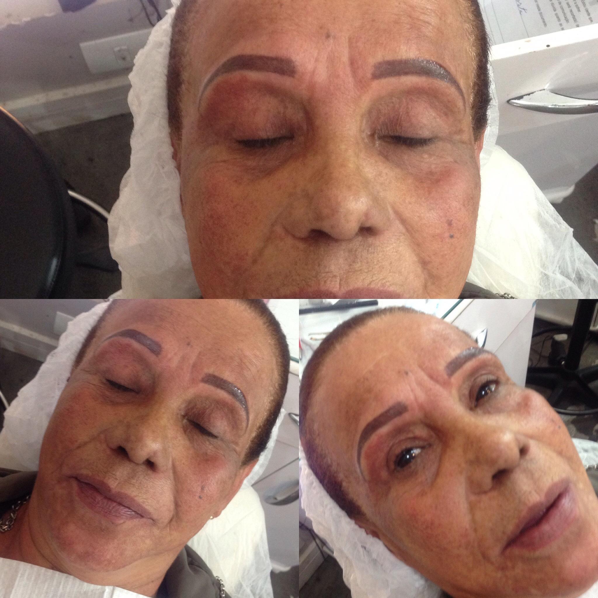 Micropgmentação sombreada  outros designer de sobrancelhas maquiador(a) micropigmentador(a) depilador(a)