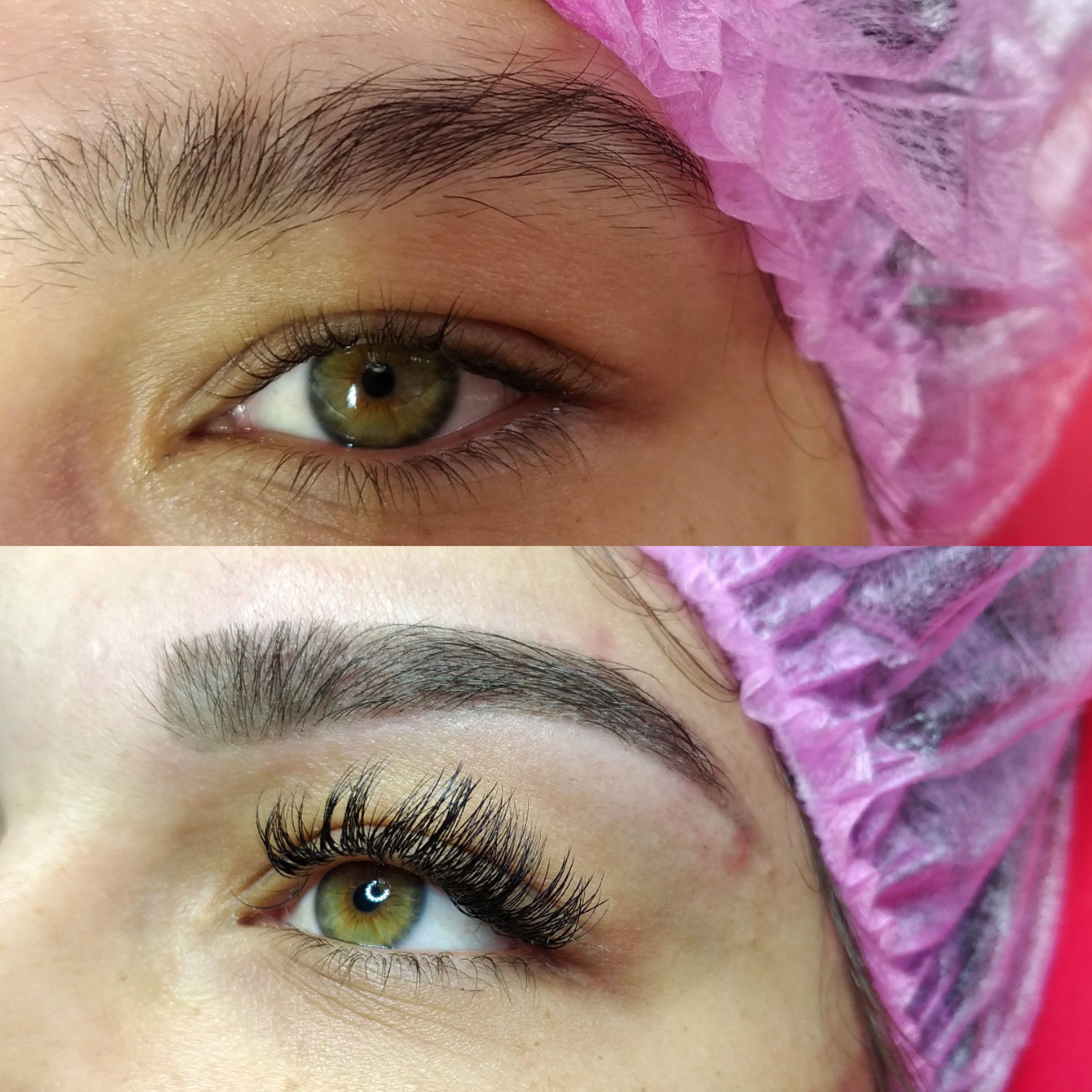 Design de sobrancelhas e alongamento de cílios fio a fio. estética esteticista designer de sobrancelhas micropigmentador(a) dermopigmentador(a) outros