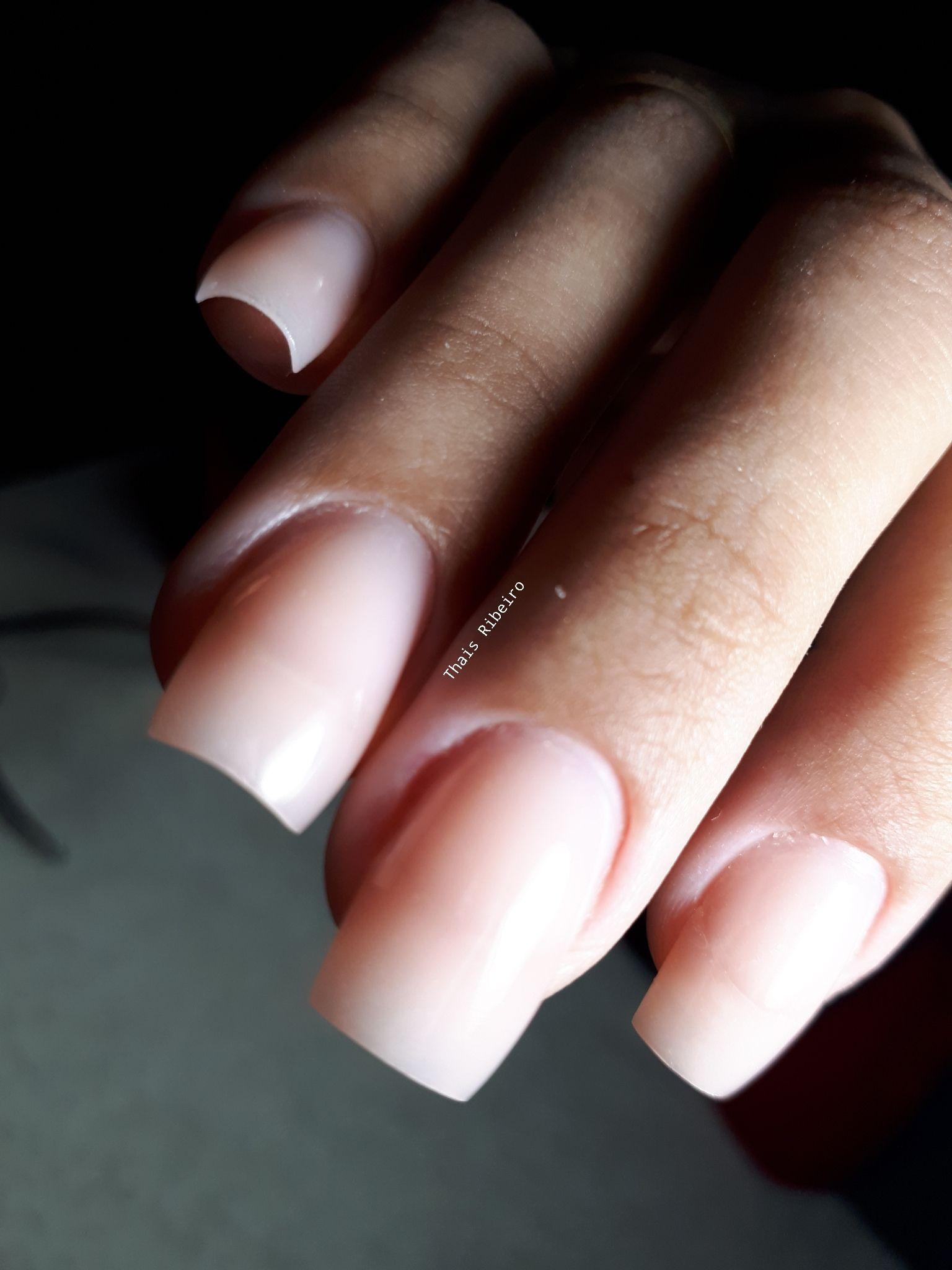 Depois - Alongamento em gel moldado unha manicure e pedicure