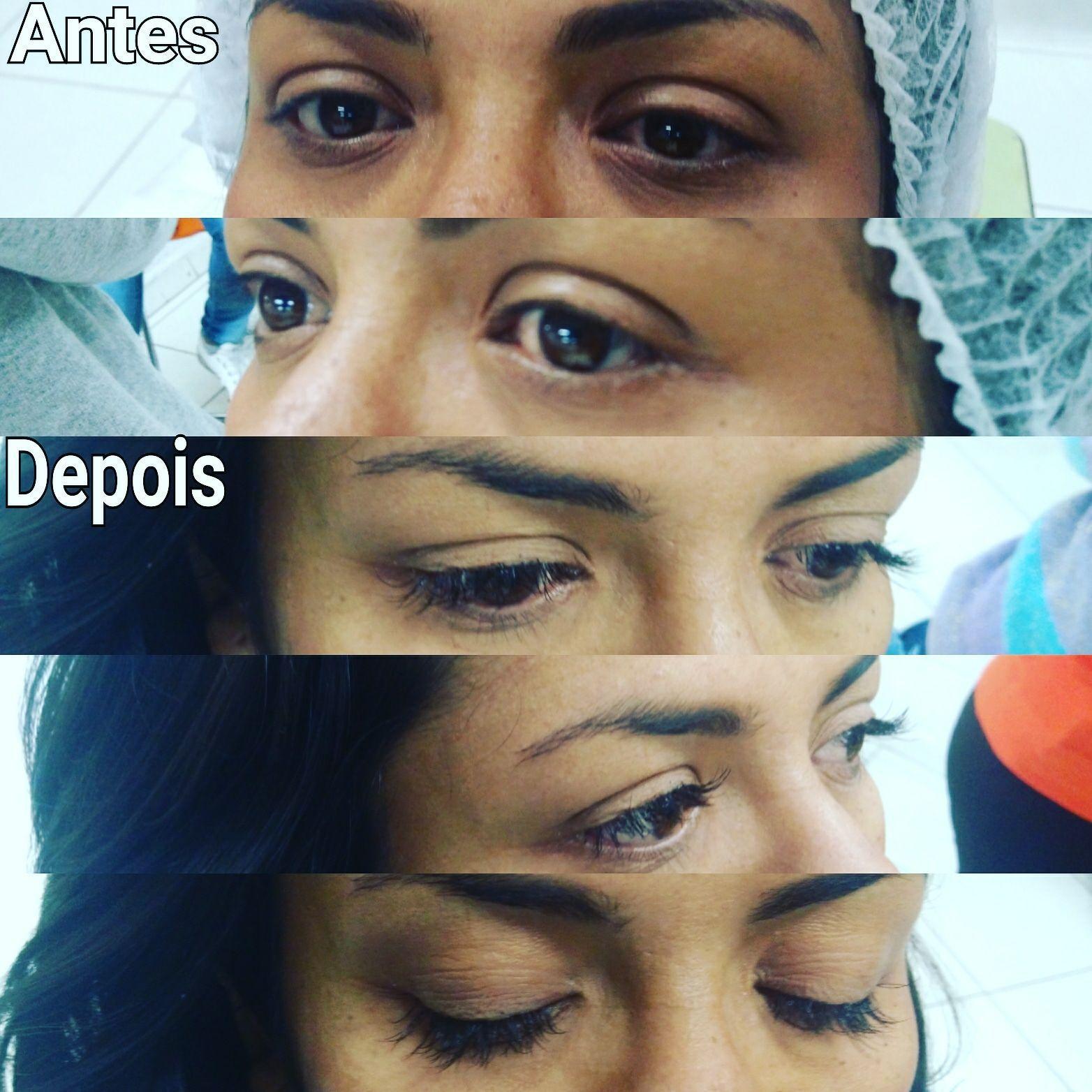 Procedimento de cílios fio a fio maquiagem cabeleireiro(a) maquiador(a) escovista designer de sobrancelhas depilador(a)