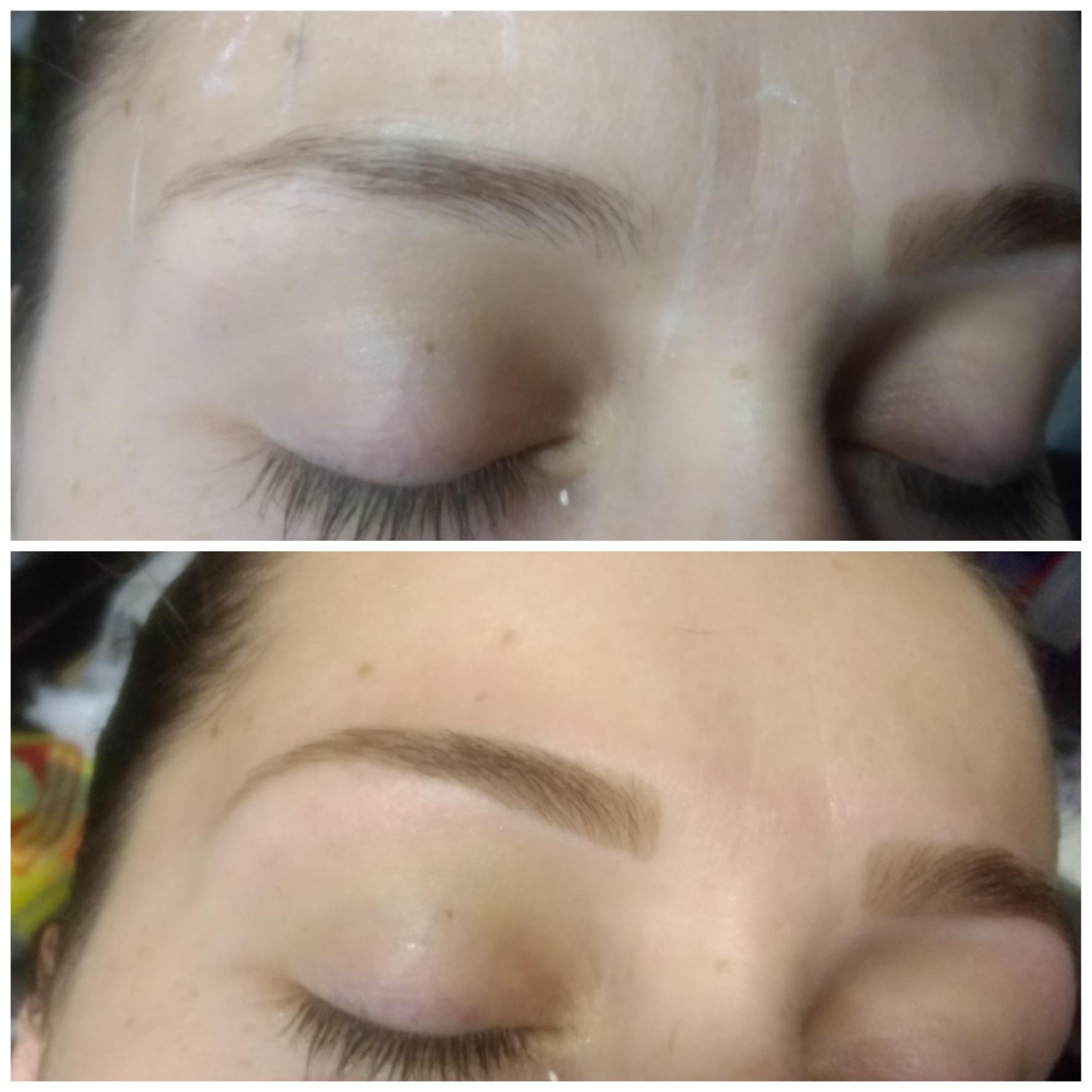 Designer de sobrancelhas com henna estética maquiador(a) designer de sobrancelhas