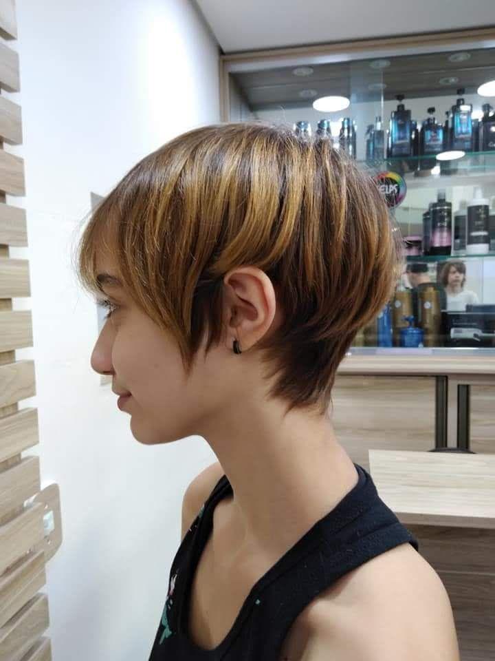 Corte Pixie moderno. cabeleireiro(a) stylist / visagista