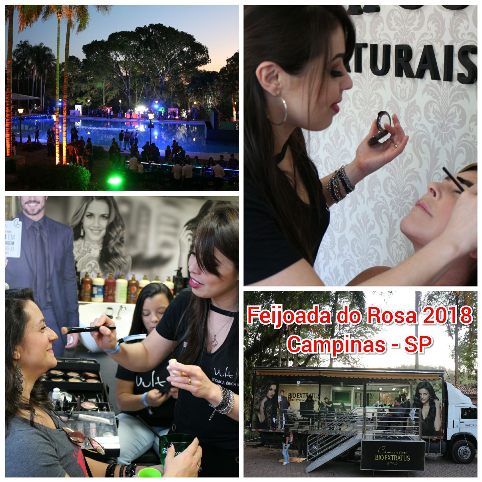 Participação em eventos do interior de São Paulo!  Acima fotos do evento Feijoada do Rosa 2018 realizado na Fazenda Santa Margarida em Campinas-SP. maquiagem maquiador(a) consultor(a)