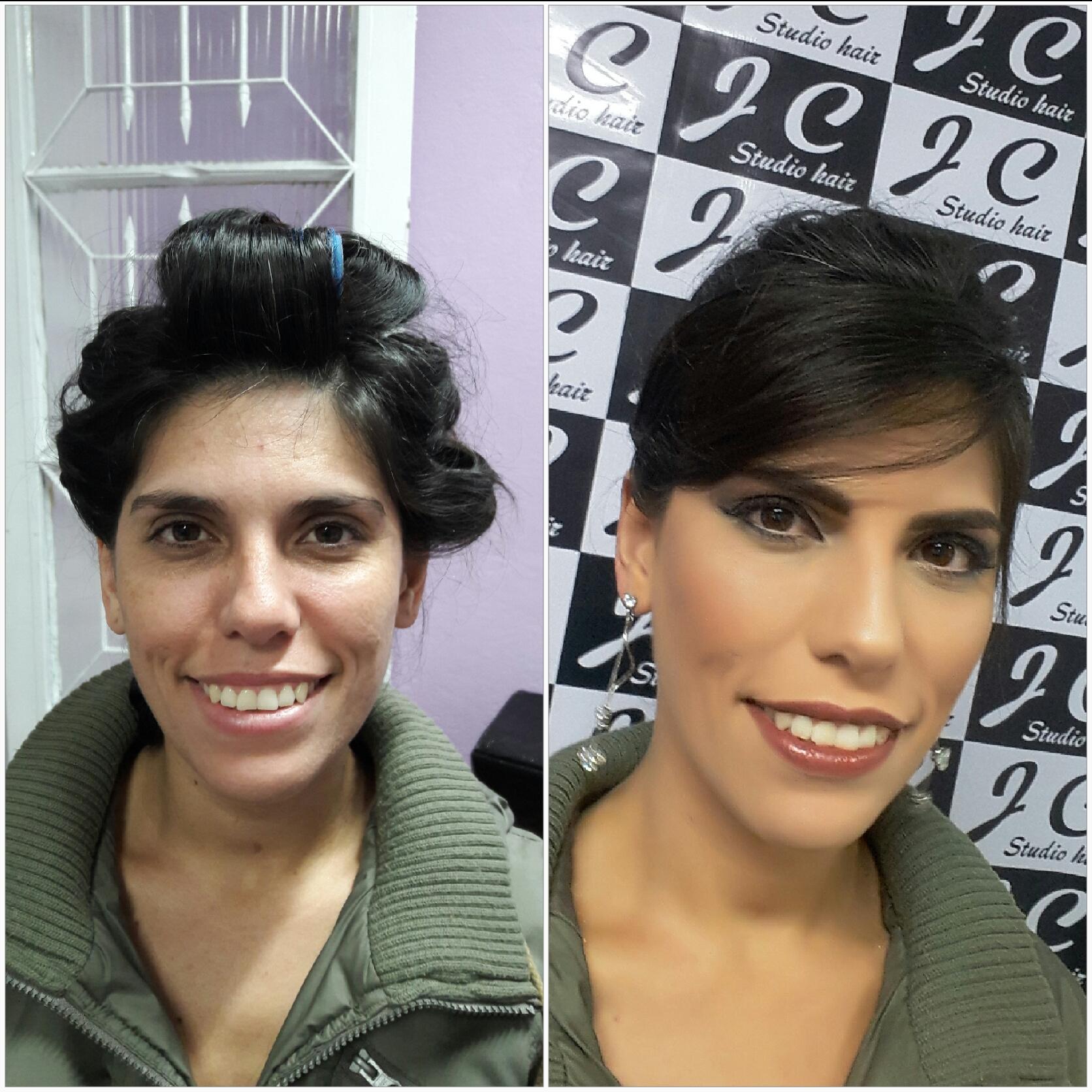 Antes e depois maquiagem cabeleireiro(a) maquiador(a)