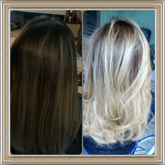 Corte e Luzes cabelo micropigmentador(a) cabeleireiro(a) maquiador(a)
