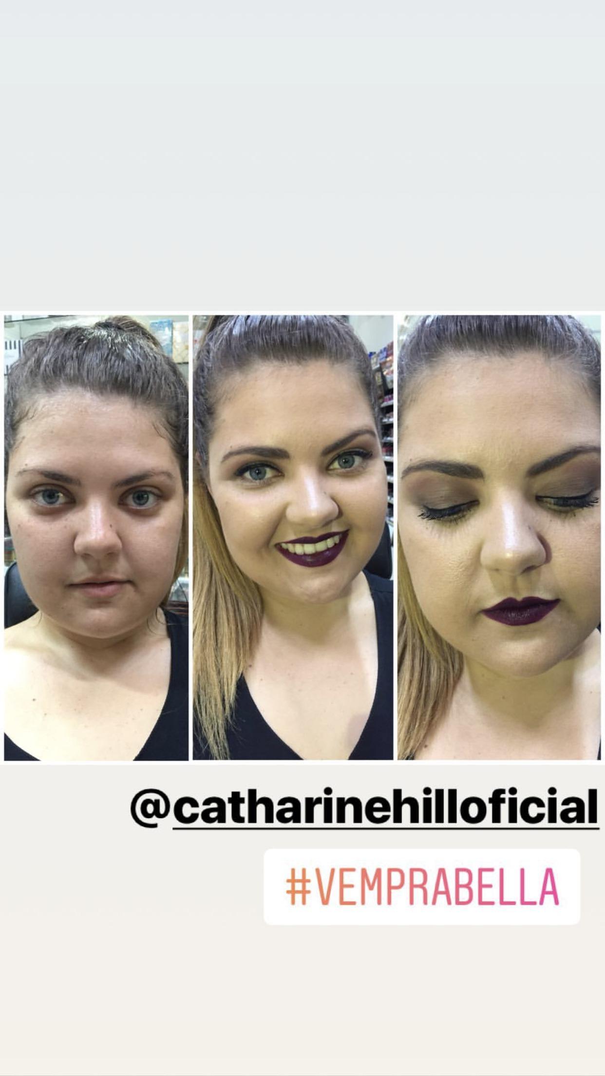 Ações em lojas (parceiros)  Catharine Hill  Demonstração de produtos da marca. maquiagem maquiador(a) designer de sobrancelhas outros micropigmentador(a)