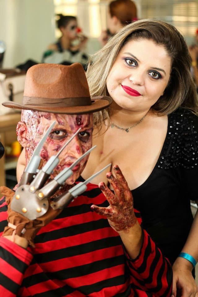 Halloween 🎃  Maquiagem artística e efeitos- Freddy Krueger  maquiagem maquiador(a) designer de sobrancelhas outros micropigmentador(a)