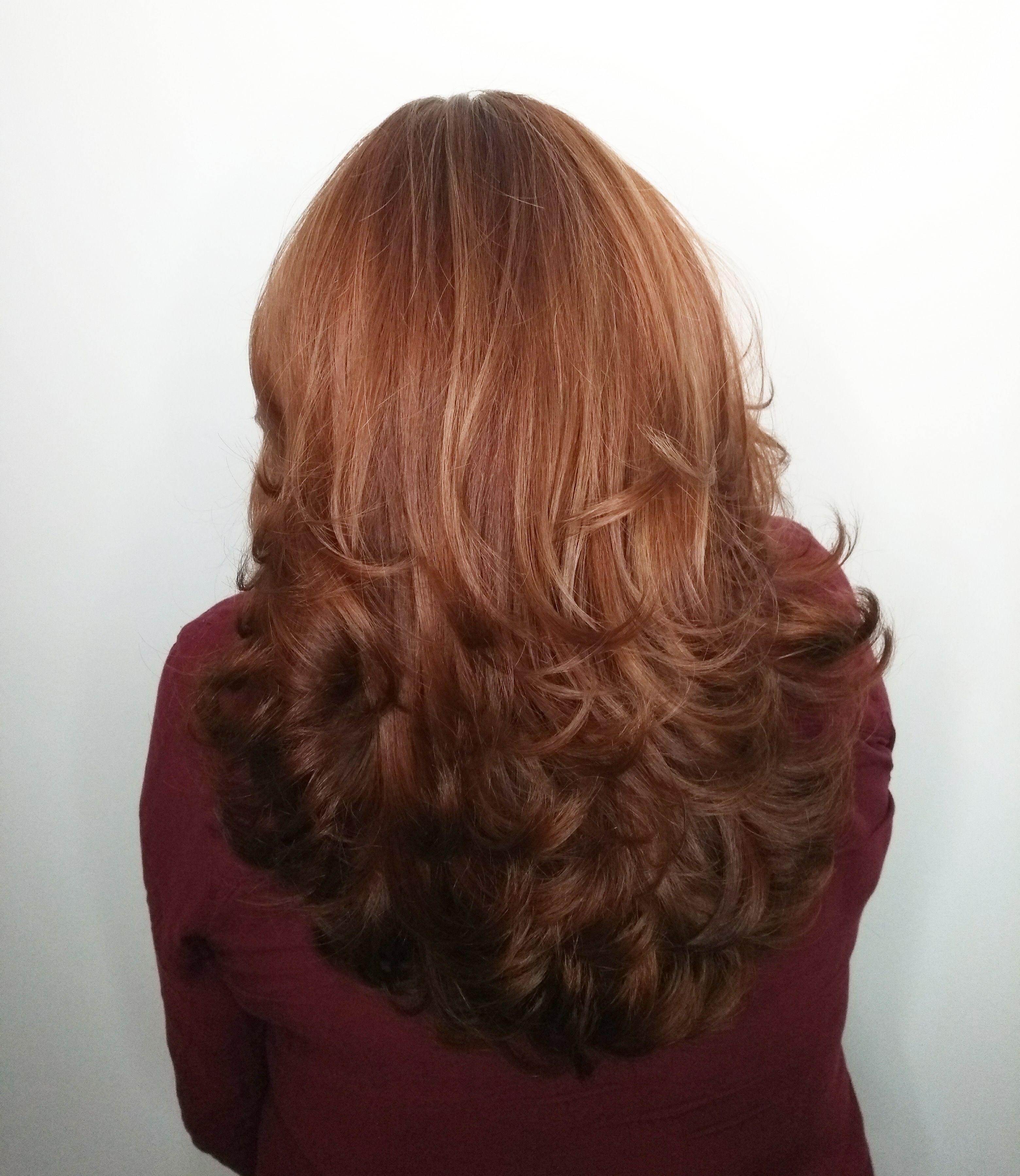 Corte Base Arredondada com Repicado em Camadas cabelo cabeleireiro(a)