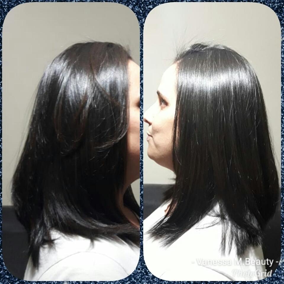 Corte, escova progressiva sem formol com matização Brown cabelo auxiliar cabeleireiro(a) designer de sobrancelhas